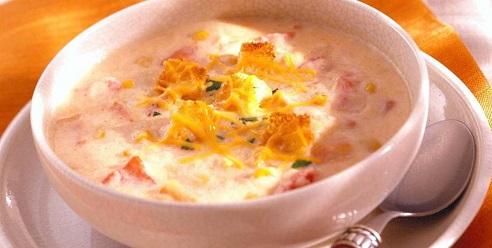 Сырный крем-суп с мясом краба - рецепт