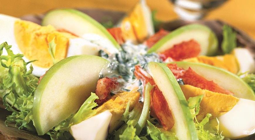 Рецепт салата с мясом краба