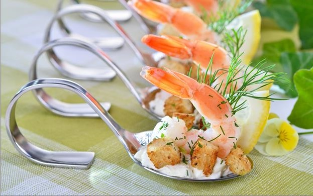 Рецепт - канапе закуска с керветками