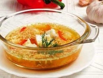 Суп из печени трески